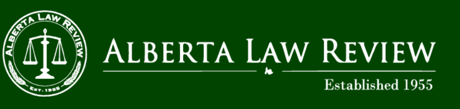 Alberta Law Review banner image